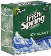 (PACK OF 48 BARS) Irish Spring ICY BLAST SCENT Bar Soap for Men & Women. 12-HOUR ODOR / DEODORANT PROTECTION! For Healthy Feeling Skin. Great for Hands, Face & Body! (48 Bars, 3.75oz Each Bar)