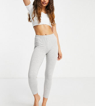 ASOS DESIGN Petite mix & match jersey pyjama legging in grey marl