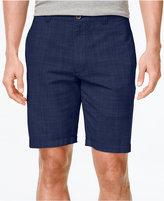 Club Room Men's Crosshatch Flat-Front Shorts