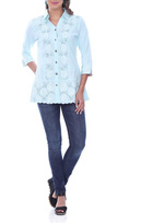 Parsley & Sage Aqua Long Shirt