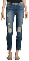 7 For All Mankind Distressed Faded Skinny Jeans