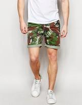 Asos Chino Shorts In Camo Print