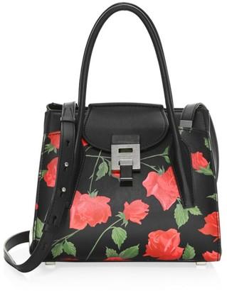 MICHAEL Michael Kors Medium Bandcroft Floral Leather Satchel