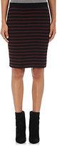 ATM Anthony Thomas Melillo Women's Striped Rib-Knit Skirt-RED, BLACK, GOLD