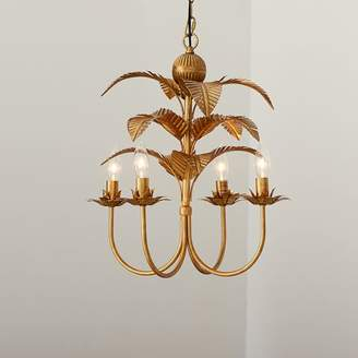 Pottery Barn Teen Palm Chandelier, Gold