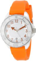 Android Women's AD512AWRG Exotic Ceramic Orange Rubber Strap Watch