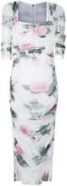 Dolce & Gabbana Tropical Rose-print tulle midi-dress