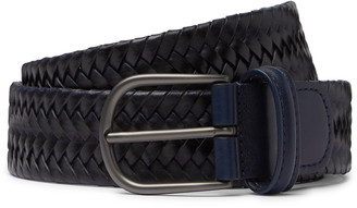 Andersons 3.5cm Woven Leather Belt