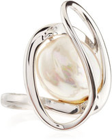 Majorica Embrace Pearl Coin Ring