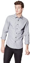 GUESS Dylan Long-Sleeve Check Slim-Fit Shirt