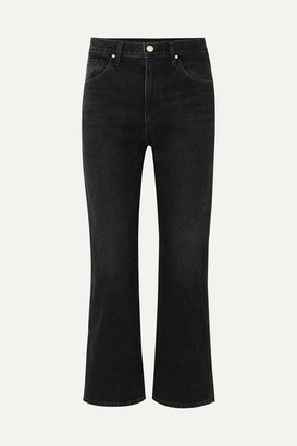 Gold Sign The Cropped A High-rise Straight-leg Jeans - Black
