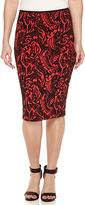 Bisou Bisou Jacquard Pencil Skirt