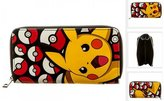 Pokemon Pikachu Pokeball Zip Around Long Wallet