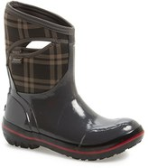 Bogs Women's 'Pimsoll Plaid' Mid High Waterproof Snow Boot With Cutout Handles