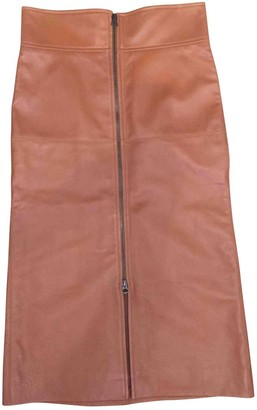 Isabel Marant Camel Leather Skirt for Women
