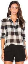 Stateside Gauze Plaid Shirting Long Sleeve Top