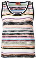 Missoni striped knitted tank - women - Viscose/Wool - 40