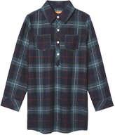 Joe Fresh Kid Girls' Plaid Sleep Shirt, Navy (Size S)