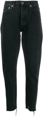A Gold E Agolde Jamie straight organic cotton jeans