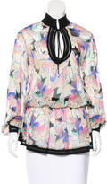 Roberto Cavalli Floral Print Silk Tunic w/ Tags