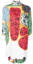 Toga Pulla roll neck contrast pattern dress