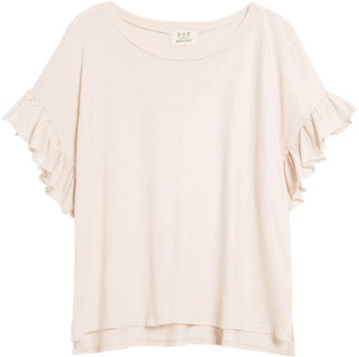 Project Social T Ruffle Sleeve T-Shirt