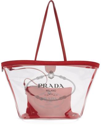 Prada Transparent and Red PVC Tote