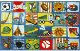 Fun Rugs Supreme Funky Patchwork Boys Area Rug Rug