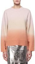 Proenza Schouler Dip-Dye Wool-Cashmere Sweater, Pink