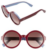 Fendi Women's 51Mm Round Sunglasses - Brown/ Green/ Azure
