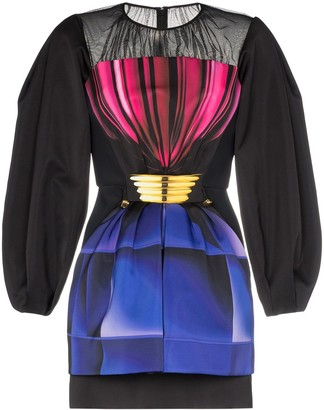 Mary Katrantzou Diamond Glaze Drawstring Waist Dress