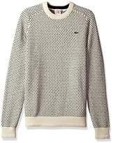 Lacoste Men's Jacquard Mini Pattern Jersey Crewneck Sweater