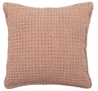 French Connection Cotton Throw Pillow Color: Blush