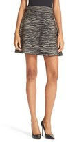 A.L.C. Alonso Metallic Tiger Print Skirt