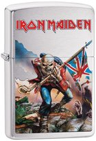 Zippo Iron Maiden Eddie the Head Outdoor Indoor Windproof Lighter Free Custom Personalized Engraved Message Permanent Lifetime Engraving on Backside