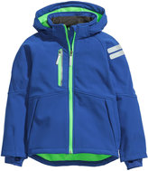 H&M Soft Shell Jacket - Blue - Kids