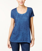 Style&Co. Style & Co. Seam-Detail High-Low T-Shirt, Only at Macy's