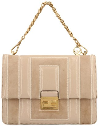Fendi Small Kan U Quilted Chain Shoulder Bag