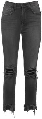 L'Agence Destroyed High Waist Denim Jeans
