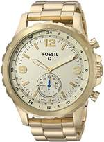Fossil Hybrid Smartwatch - Q Nate -Tone Stainless Steel
