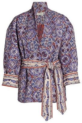 CHUFY Thida Quilted Cotton-Blend Print Jacket