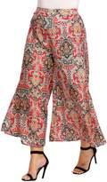 meaneor WomenPlus Size Boho High Waist Wide Leg Palazzo Pants