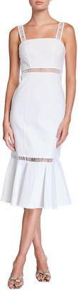 STAUD Lychee Linen/Cotton Midi Dress