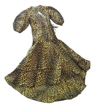 Ganni Spring Summer 2020 Yellow Cotton Dresses