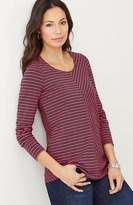 J. Jill Mixed-Stripes Seamed Tee