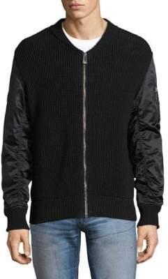 Belstaff Bossington Mixed Media Sweater