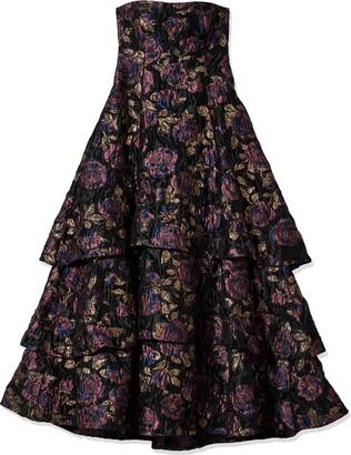 Aidan Mattox Aidan Women's Strapless Clipped Jacquard Long Gown