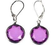 Gloria Vanderbilt Silver-Tone Purple Drop Earrings