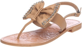 Colors of California Women's HCU328 Fashion Sandals Beige Naturel 6.5