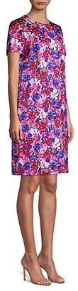 Escada Divisu Floral Print Shift Dress